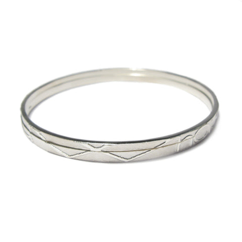 Silver 'I Who Is You Who Is' Partnership Bangles