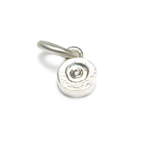 Round Silver and Diamond Charm