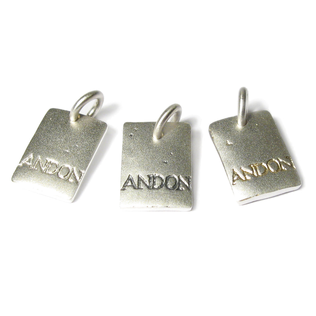 Diana Porter Jewellery etched and on charm