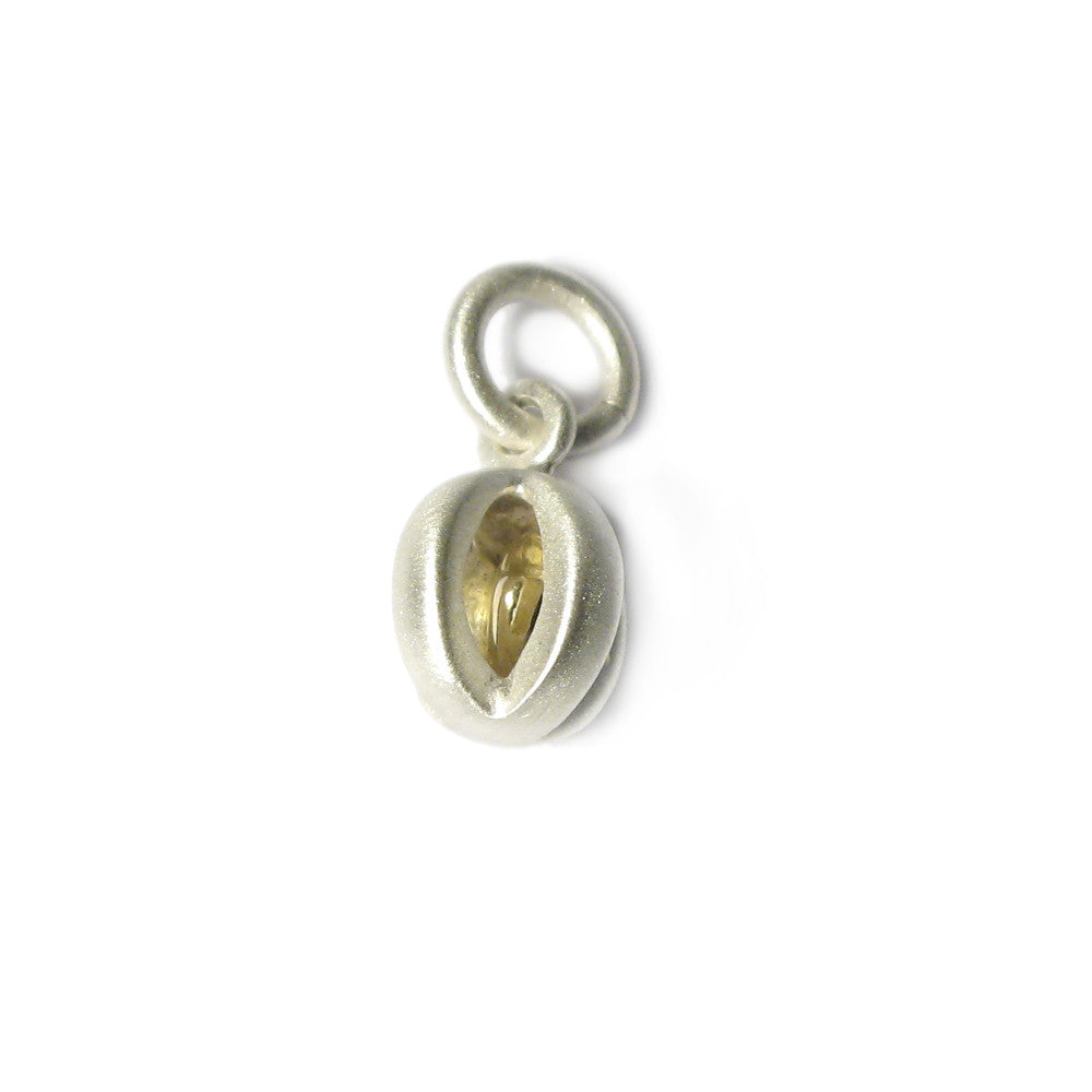 Diana Porter Jewellery silver caged yellow gold heart charm