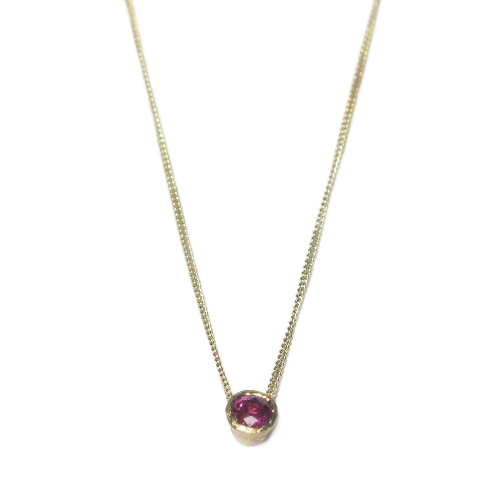 Diana Porter Jewellery ruby yellow gold necklace