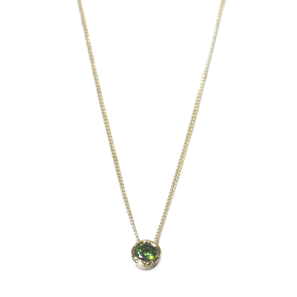 Diana Porter Jewellery green tourmaline yellow gold necklace