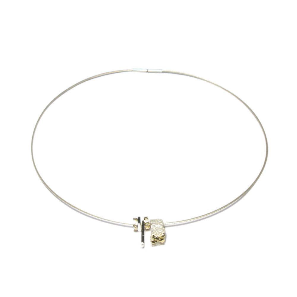 Diana Porter Jewellery silver gold cable necklace