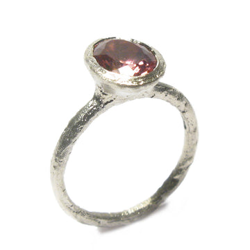 Diana Porter Jewellery unique pink tourmaline white gold engagement ring