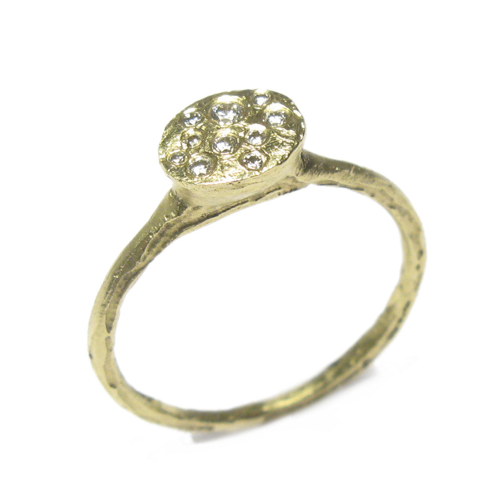 Diana Porter Jewellery contemporary diamond and gold engagement ring