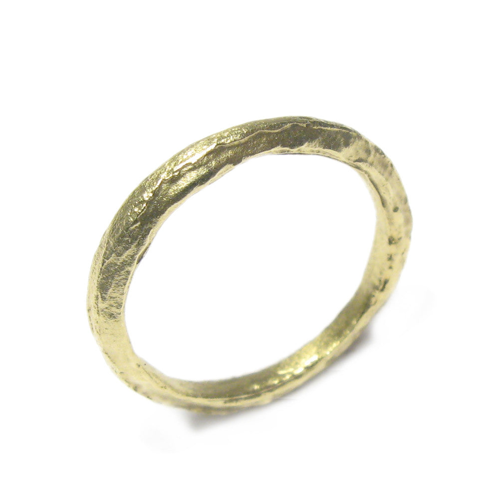 Diana Porter Jewellery contemporary green gold wedding ring