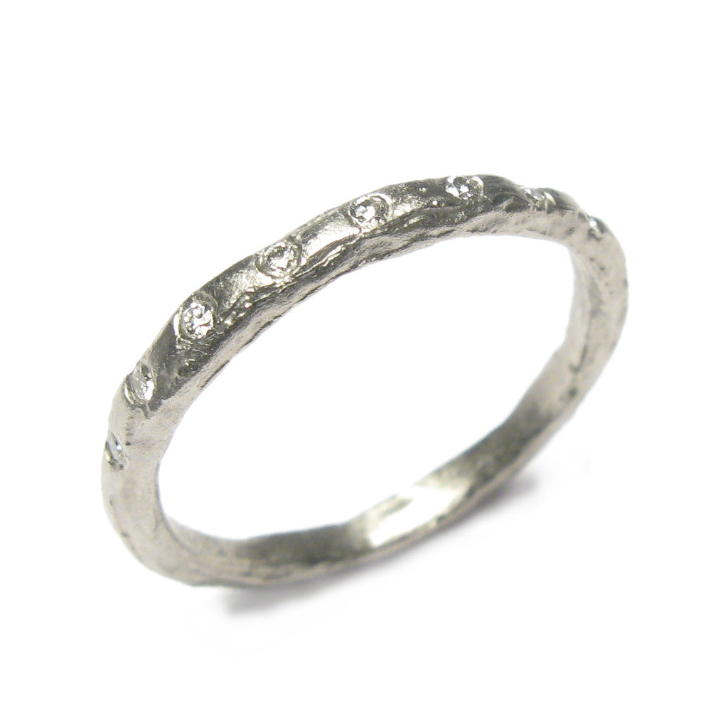 Diana Porter Jewellery modern diamond platinum eternity wedding ring