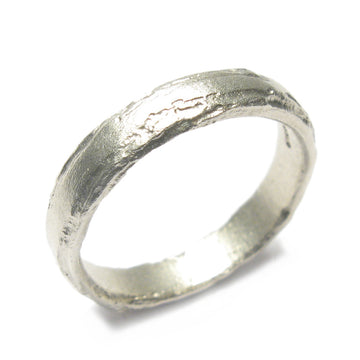 Diana Porter Jewellery modern mens white gold wedding ring