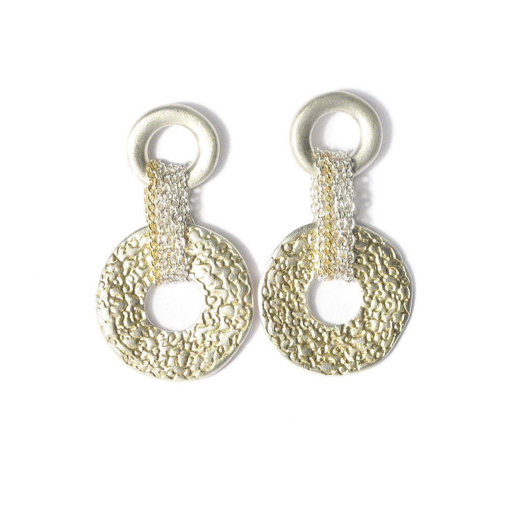 Diana Porter Jewellery contemporary etched silver earrings