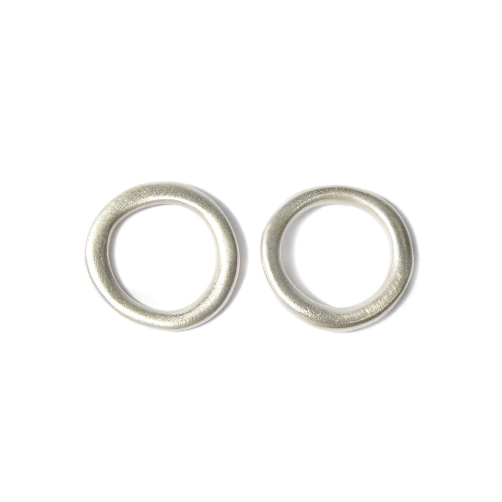 Diana Porter Jewellery contemporary medium silver hoop studs