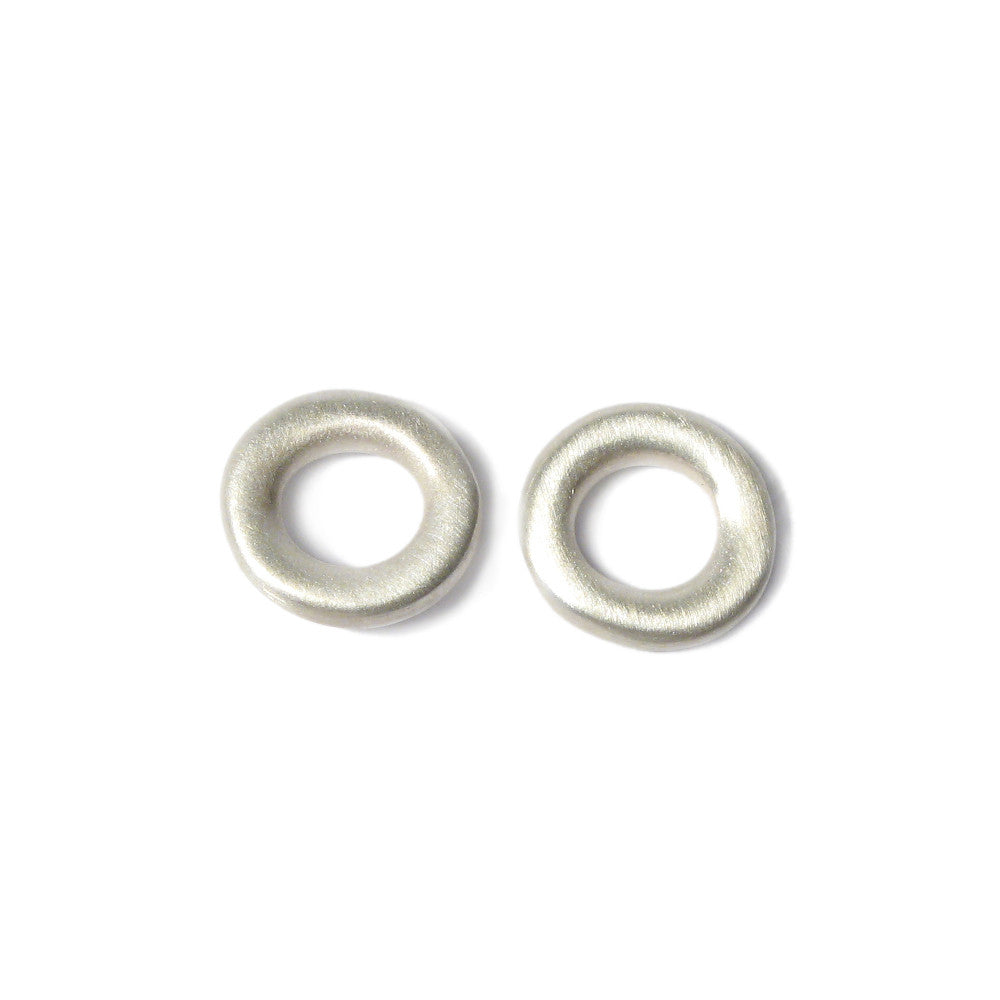 Diana Porter Jewellery contemporary silver hoop studs