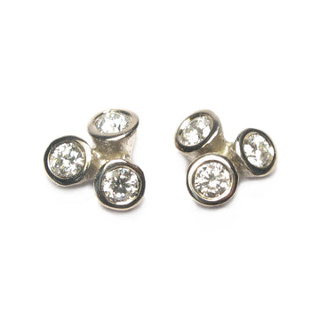 Diana Porter Jewellery contemporary diamond bud gold earrings