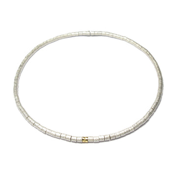Diana Porter Jewellery contemporary silver gold bead necklace