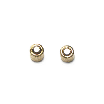 Diana Porter Jewellery contemporary gold brown diamond stud earrings