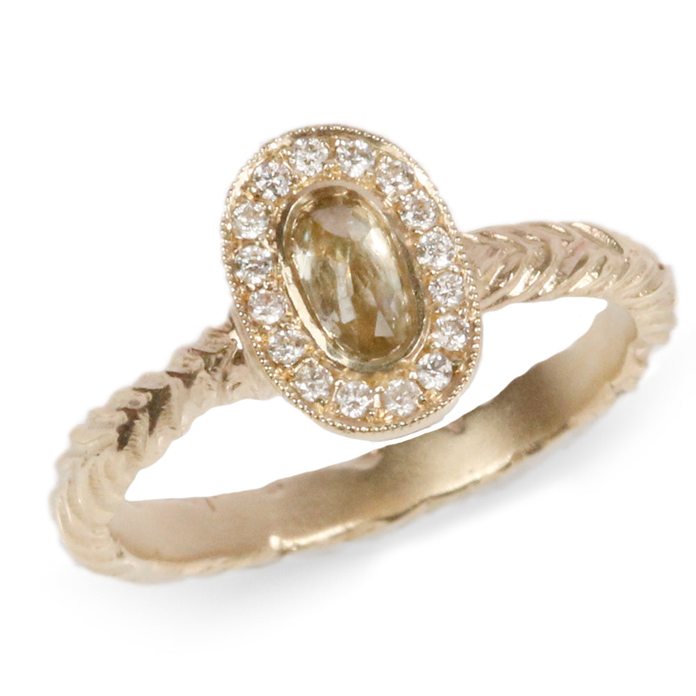 Charlotte Rowenna Harvest Halo Gold Ring