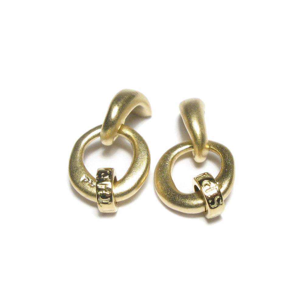 Diana Porter Jewellery contemporary gold earrings
