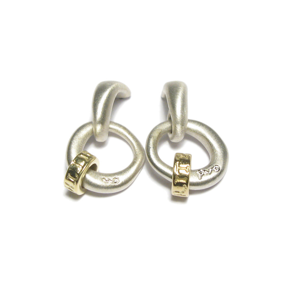 Diana Porter Jewellery contemporary silver and gold earrings