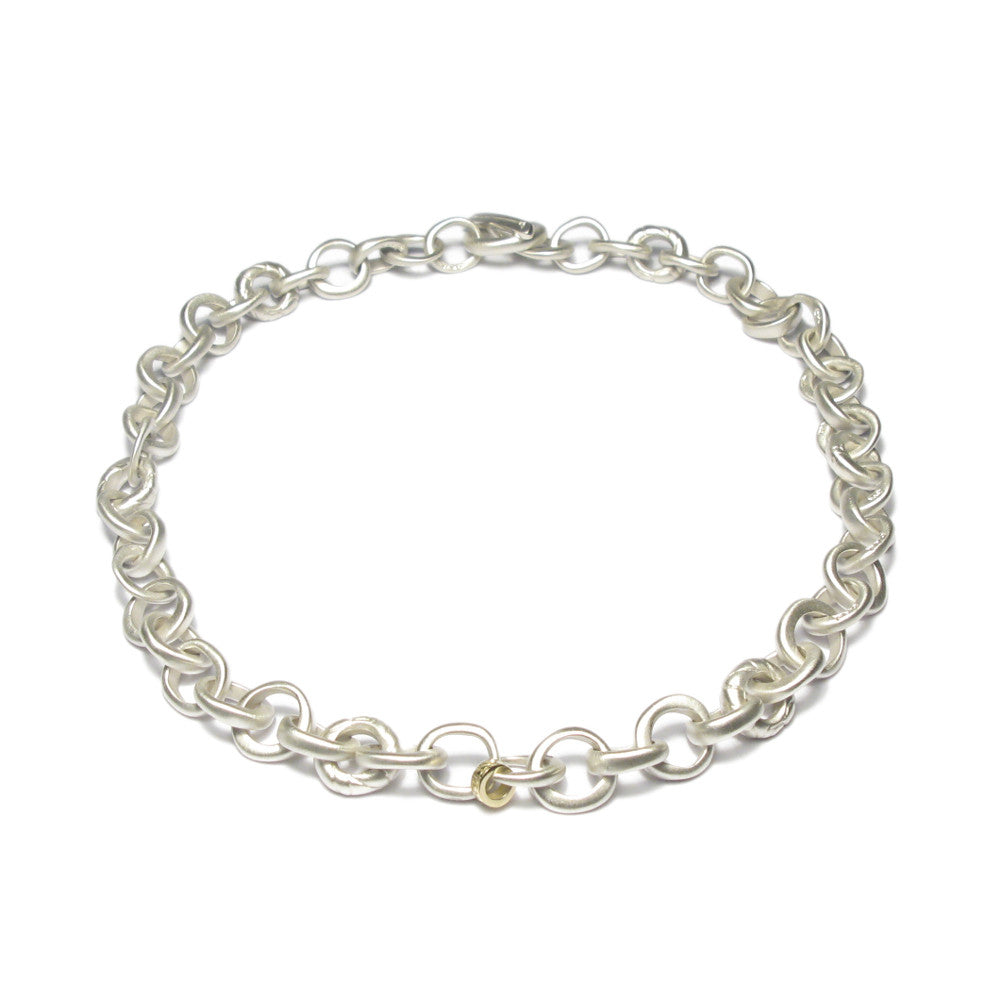 Diana Porter Jewellery contemporary silver and gold bead necklace