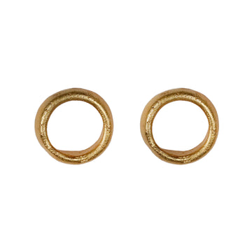 Heeseung Koh Gold Plated Finger print earrings