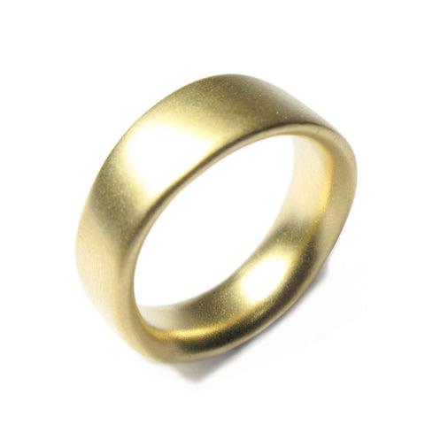 Wide Undulating Plain 18ct Yellow Ring
