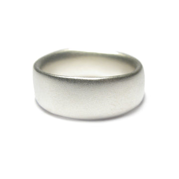 Diana Porter Jewellery contemporary silver or gold mens wedding ring