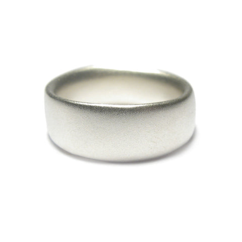 Wide Gently Undulating Silver Ring