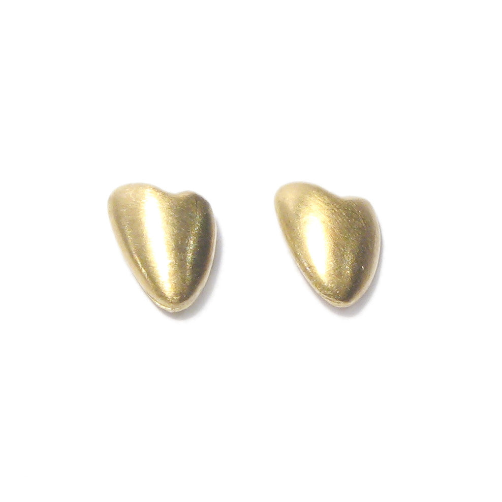 Diana Porter Jewellery contemporary gold heart stud earrings