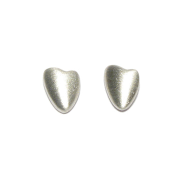 Diana Porter jewellery contemporary silver heart stud earrings
