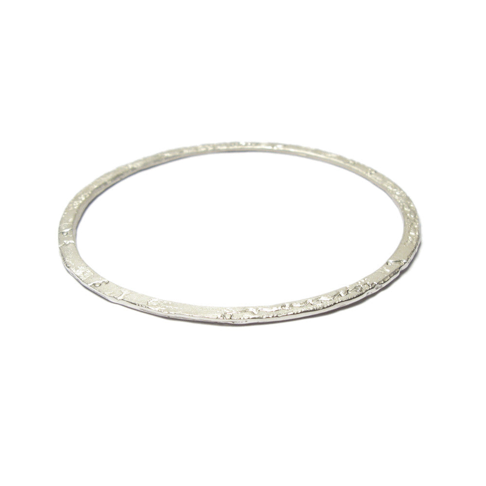 Diana Porter Jewellery contemporary etched silver stacking bangle
