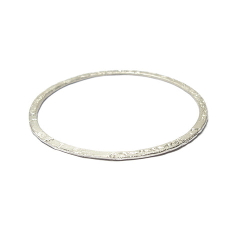 Silver 'Lacy' Stacking Bangle