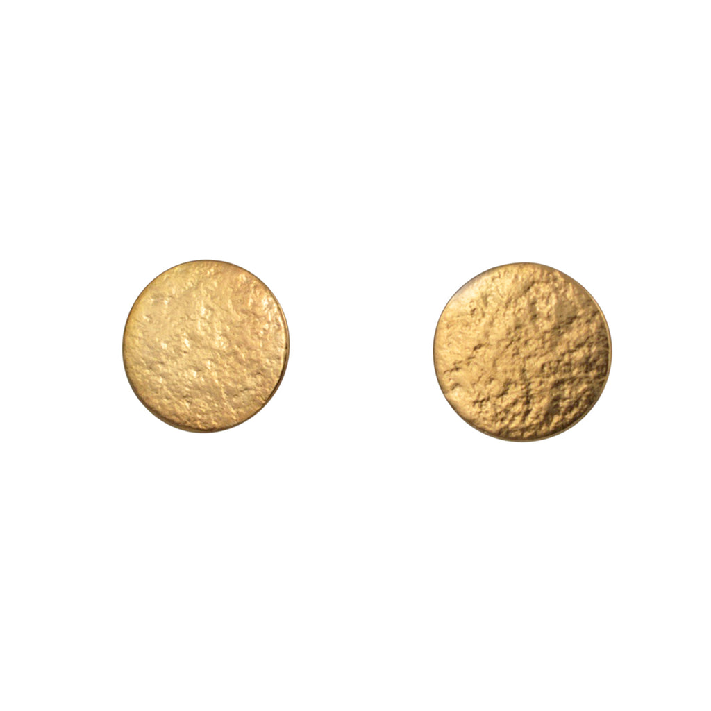 Cara Tonkin Paillette Large Gold Vermeil Stud Earrings