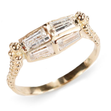 Meitalove Baguette Engagement Ring