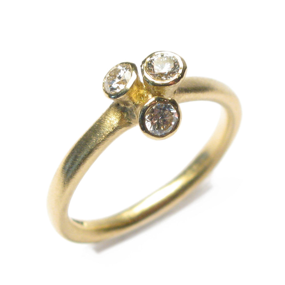 Diana Porter Jewellery contemporary yellow gold diamond engagement ring