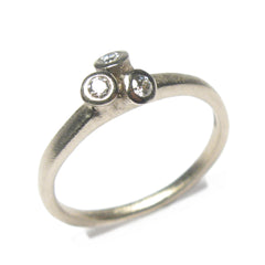 Diana Porter Jewellery contemporary white gold diamond engagement ring
