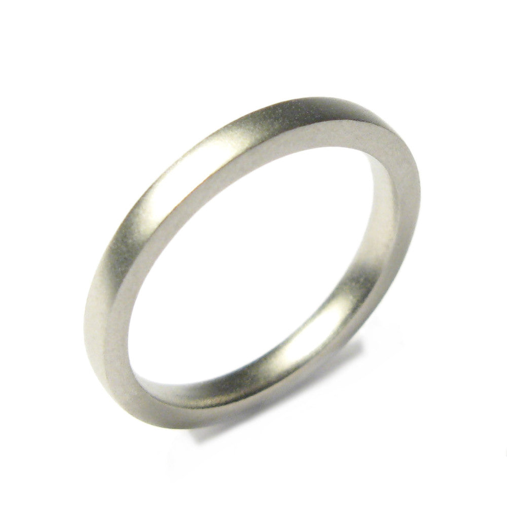 Diana Porter Jewellery contemporary platinum wedding ring