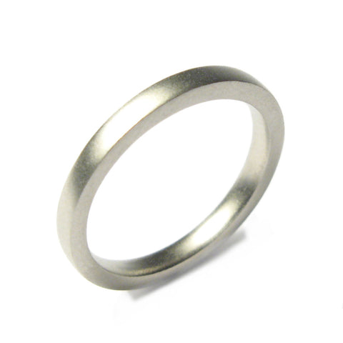 Platinum Narrow Square Plain Ring