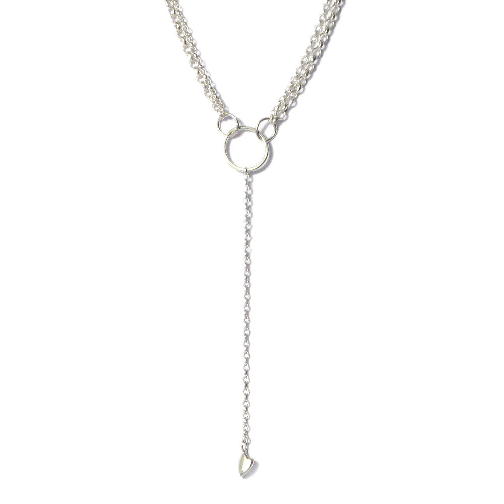Diana Porter Jewellery contemporary silver heart necklace
