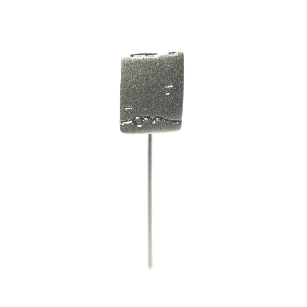 Diana Porter Jewellery contemporary etched silver tie pin