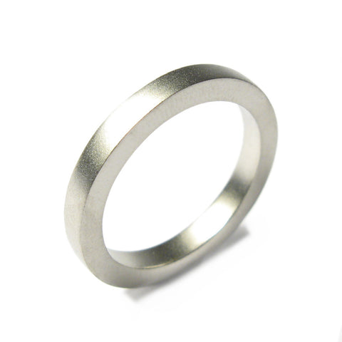 Plain Platinum Square Band