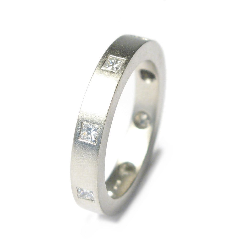 Diana Porter Jewellery contemporary platinum eternity wedding ring