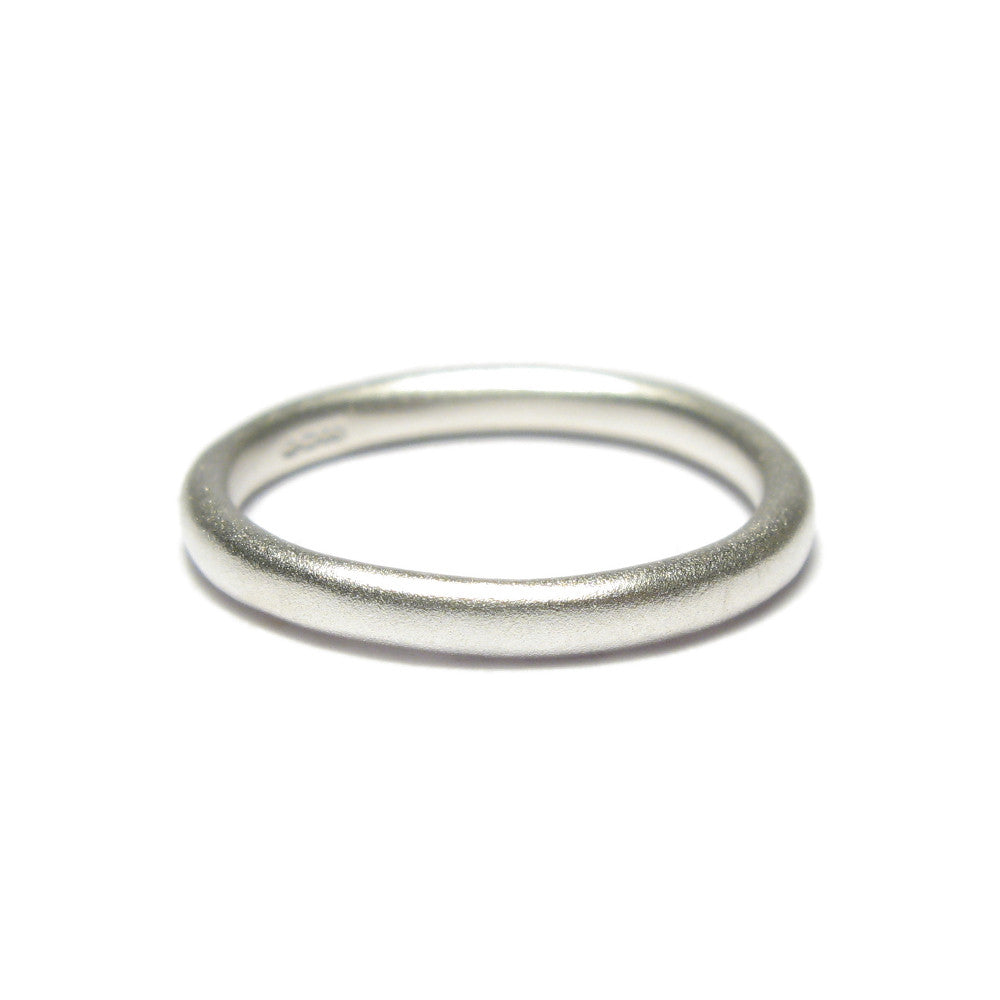 Diana Porter Jewellery contemporary plain silver stacking ring