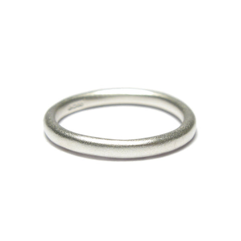 Slim Silver Stacking Ring