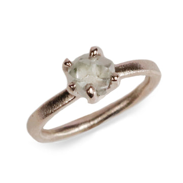 Copy of 18ct Fairtrade White Gold Ring Set with Rough Diamond in Irregular Claw