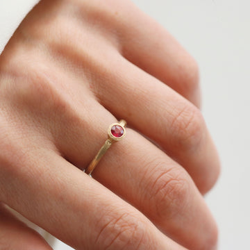 Ruby and 9ct Yellow Gold Ring