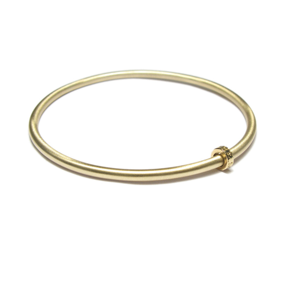 Diana Porter Jewellery contemporary yellow gold bead bangle