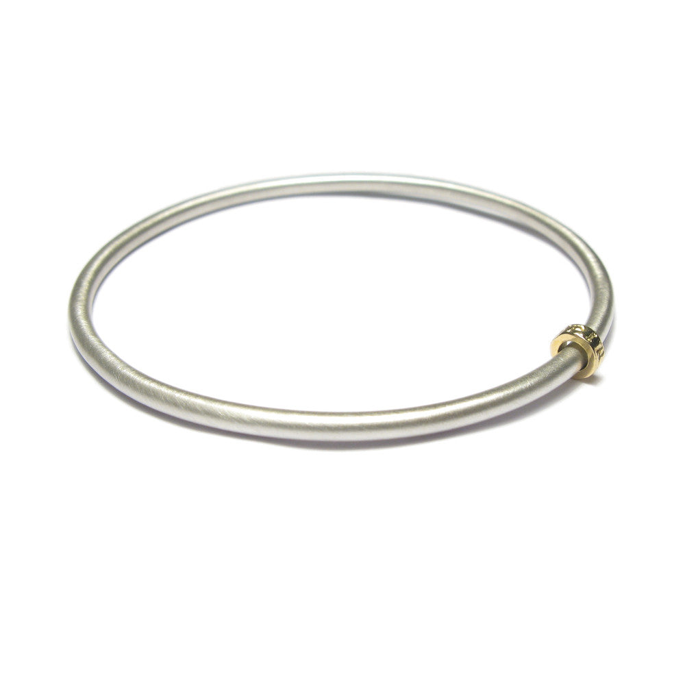 Diana Porter Jewellery contemporary silver gold bead bangle