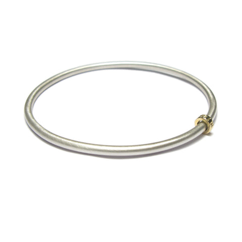 Silver and Yellow Gold 'Spirit' Bead Bangle