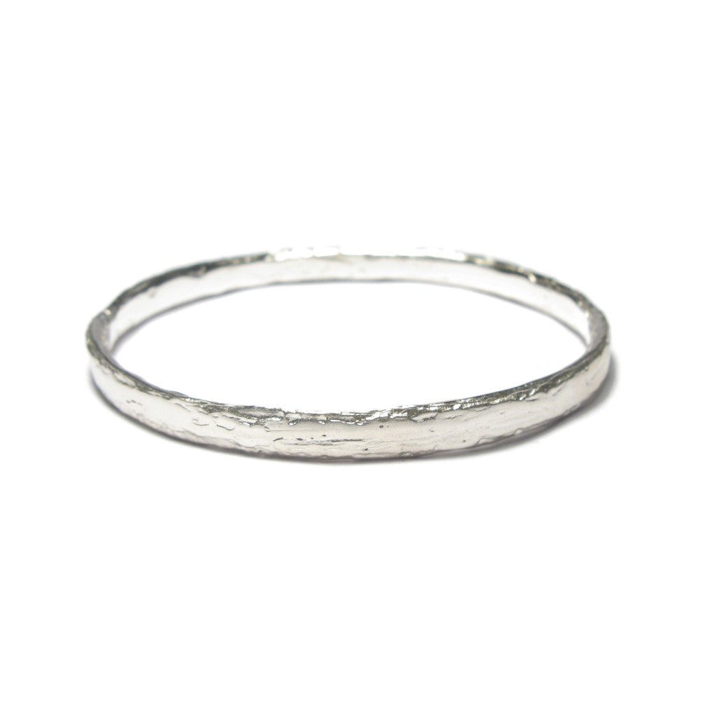 Diana Porter Jewellery contemporary etched silver bangle