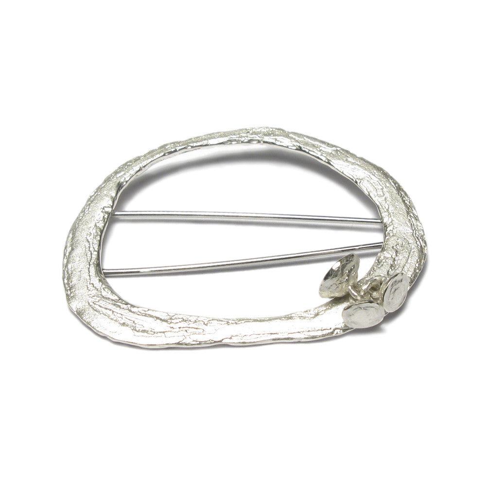 Diana Porter Jewellery etched silver bud brooch