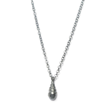 Diana Porter Jewellery contemporary etched silver pendant necklace